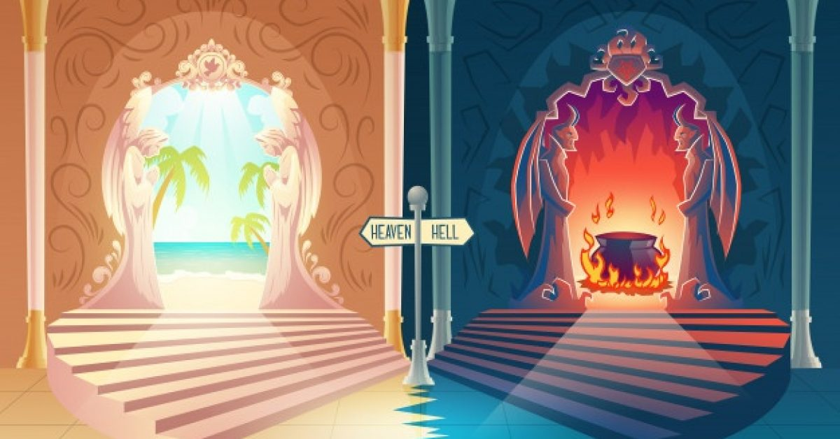afterlife-payoff-cartoon-with-stairway-heaven-hell-gates-with-praying-angels-horned-demons_1441-3110
