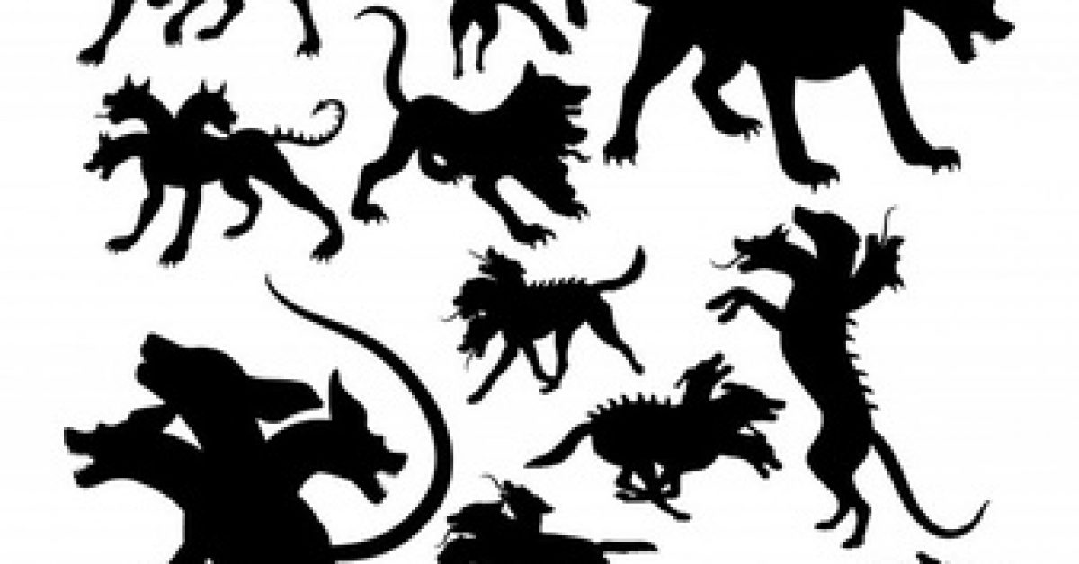 cerberus-ancient-creature-mythology-silhouettes_27646-232