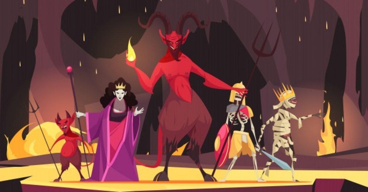 evil-characters-cartoon-composition-with-red-demon-from-hell-devil-wicked-queen-dark-scary_1284-27821