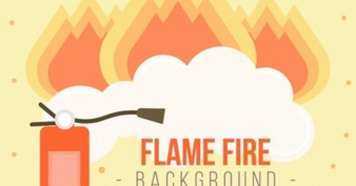 fire-extinguisher-background-flames-flat-design_23-2147607384