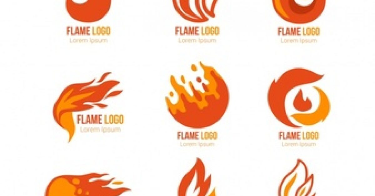 selection-nine-logos-with-colored-flames_23-2147608950