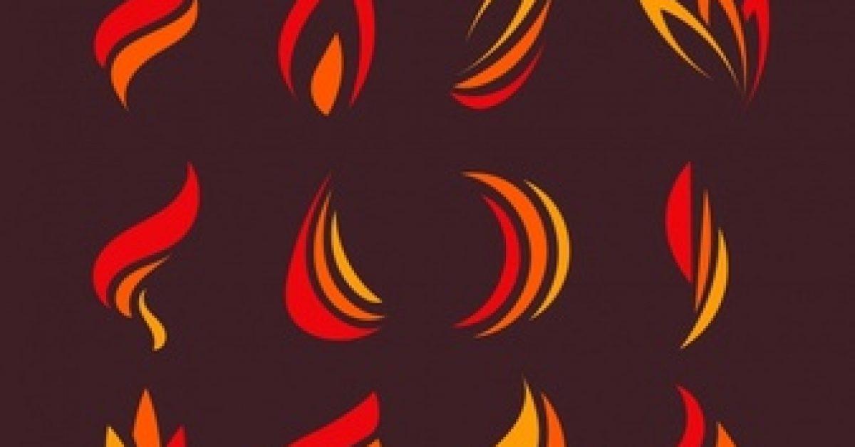 variety-flat-flames-logos_23-2147612832